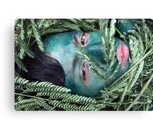 Green Face For Green Earth Canvas Print