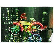 Neon Bicycle Take Three Poster