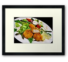 Salad and Coquilles Saint Jacques Framed Print