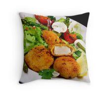 Salad and Coquilles Saint Jacques Throw Pillow