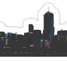 Denver Colorado midnight skyline Sticker