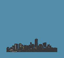 Denver Colorado midnight skyline by artisticattitud