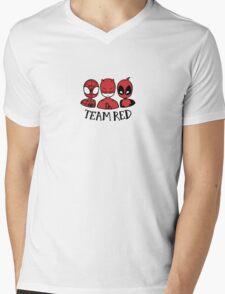 TEAM RED Mens V-Neck T-Shirt