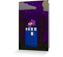Cheshire of time and space Greeting Card