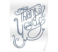 Thank You - Hand Lettering Poster