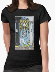 High Priestess Tarot Womens Fitted T-Shirt