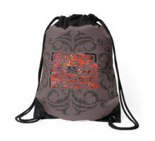 COD^C^T_QR ROOTCAT Drawstring Bag