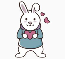 Cartoon cute valentine rabbit Kids Clothes