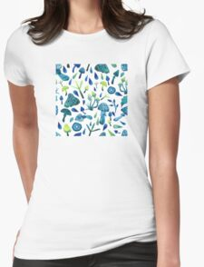 - Mushrooms pattern - Womens Fitted T-Shirt