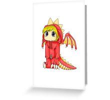 Rawr (Red Version) Greeting Card