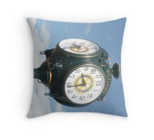 Williams Town Clock on Route 66. Throw Pillow