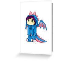 Rawr (Blue Version) Greeting Card