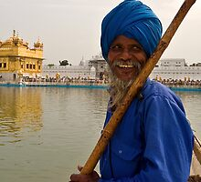 AGolden Smile. Amritsar by Claude  Renault