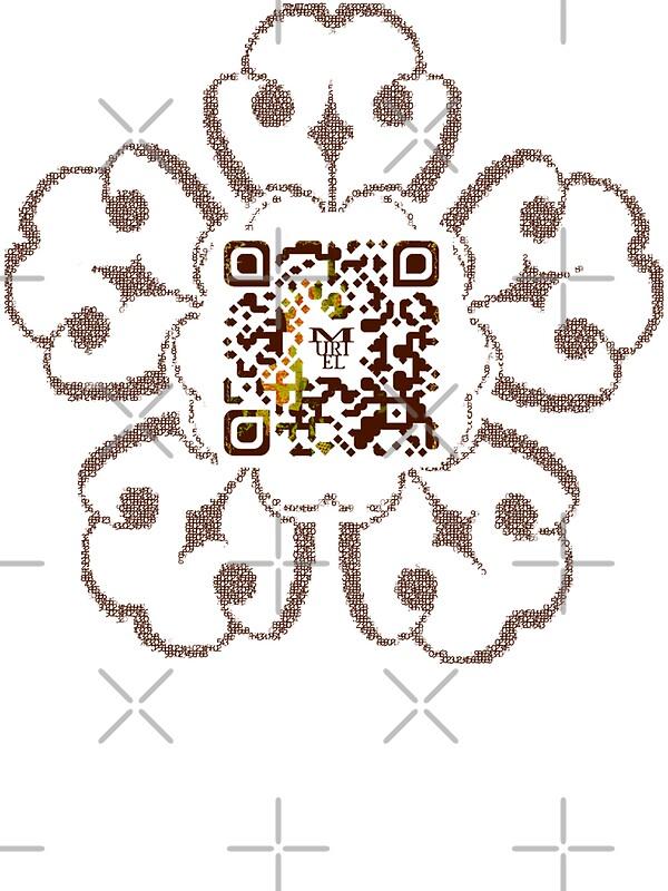 One Line Ascii Art Metal : Quot cod^c^t qr muriel cerf stickers by grimm land redbubble