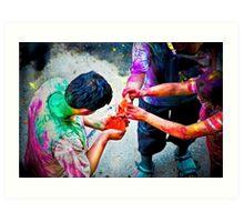 Sharing Colors, Sharing Happiness Art Print