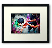 Sharing Colors, Sharing Happiness Framed Print