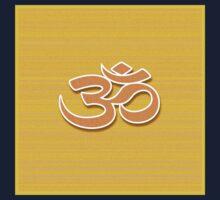 Aum symbol on textured background Baby Tee