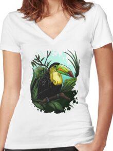 Toucan Women's Fitted V-Neck T-Shirt