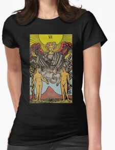 The Lovers Tarot Womens Fitted T-Shirt