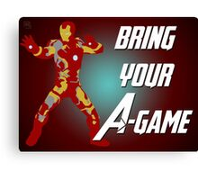 Iron Man - Bring Your A-Game Canvas Print