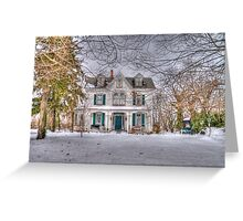 Carriage and House Greeting Card