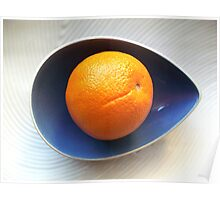 Orange in Blue Bowl Poster