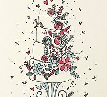 Whimsical Wedding Cake by RumourHasIt