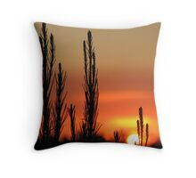 Mount Gambier Summer Sunset Throw Pillow