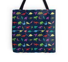 Colorful Mini Dinosaur  Tote Bag