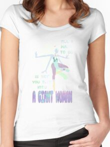 Giant Woman Women's Fitted Scoop T-Shirt