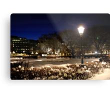 Square at night  (Stockholm, Sweden) Metal Print