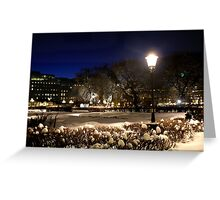 Square at night  (Stockholm, Sweden) Greeting Card