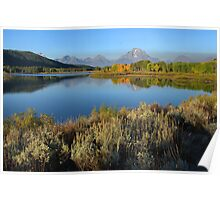Morning Reflections, Oxbow Bend  Poster