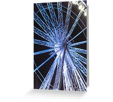 Round the wheel Greeting Card