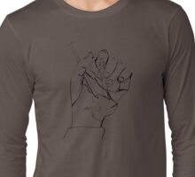 hand with pen Long Sleeve T-Shirt