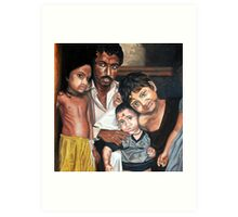 Hope and innocence - Children from Indian slums Art Print