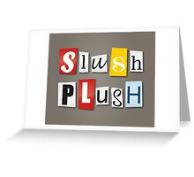 SlushPlush Logo Greeting Card