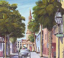 """Church Street"" Charleston SC USA by Matthew Campbell"