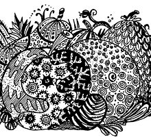 Fruit 2 - Aussie Tangle (See Description for Background Colour Options). by Heatherian