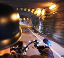 tunnel acoustics- harley davidson on the road by Jana Sebastian