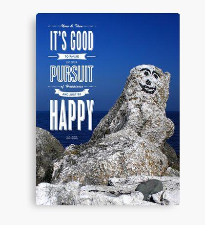 Be Happy! Canvas Print