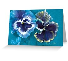 Pansy study Greeting Card