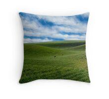 Rolling Farmland Throw Pillow