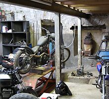 bike shed with motorbikes by Jana Sebastian