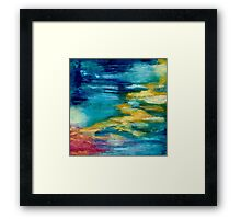 Coral Reef Pink Yellow Framed Print