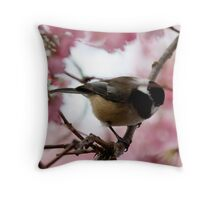 """Who Goes There?"" Throw Pillow"