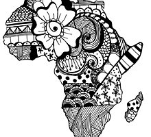 Africa ZenDoodle by nickolettamay