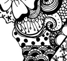Africa ZenDoodle Sticker