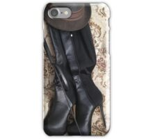 Riding crop and boots iPhone Case/Skin
