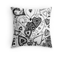Hearts Within Hearts Aussie Tangle  (See Description Notes for Colour Options) Throw Pillow
